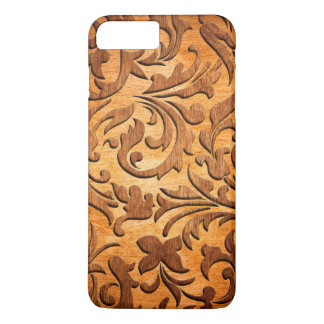 Cool Carved Wood Vintage Swirls Design iPhone 7 Plus Case