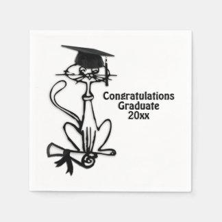 Cool Cat Congratulations Graduate Paper Napkin