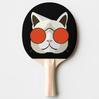Cool Cat in Sunglasses Ping Pong Paddle
