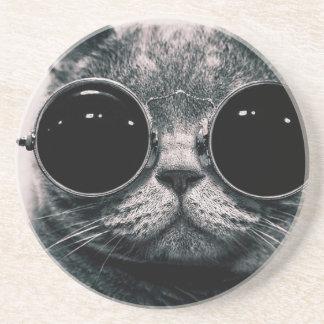 cool cat kool kat with shades coasters