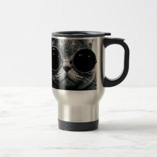 cool cat kool kat with shades travel mug