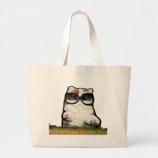 Cool Cat Large Tote Bag