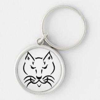 Cool Cat Metal Charm Keychain
