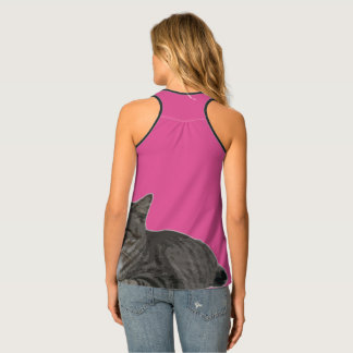 cool cat mom tank top