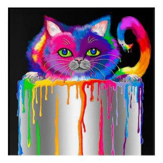 Cool cat pop art home office decor