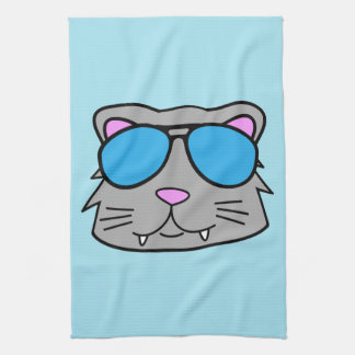 Cool Cat Tea Towel