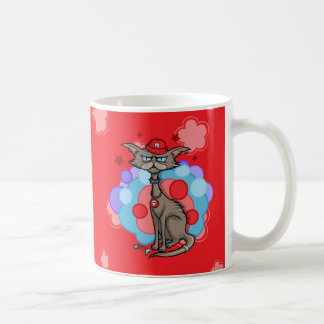 Cool Cat with Red Hat Coffee Mugs