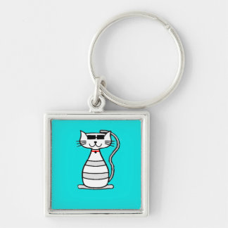Cool Cat with sunglasses Keychains