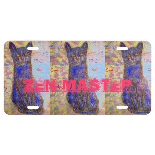 cool cat zen master license plate