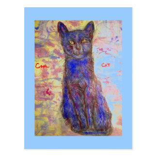 cool cat zen master postcard