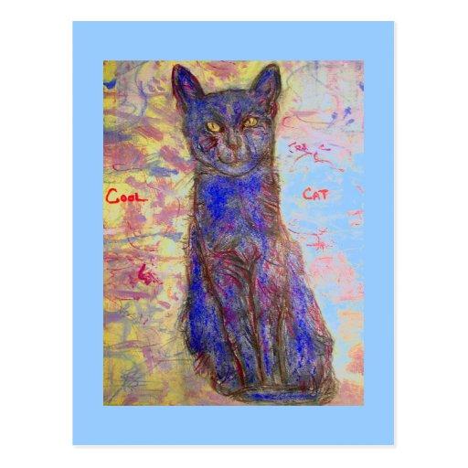 cool cat zen master post cards