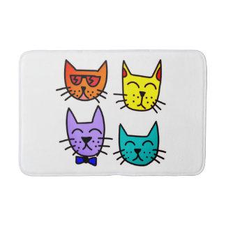 Cool Cats bathroom decor Bath Mat