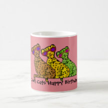 Cool Cats Birthday Mug
