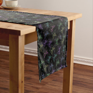 Cool Cats on Black! Multi-colored Cats Short Table Runner