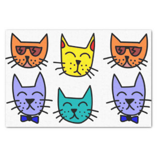 Cool Cats Tissue Paper