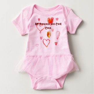 Cool Cats Valentine Baby Bodysuit
