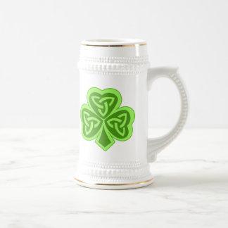 Cool Celtic Knot Shamrock Coffee Mug