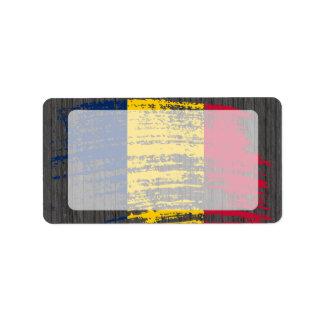 Cool Chadian flag design Address Label