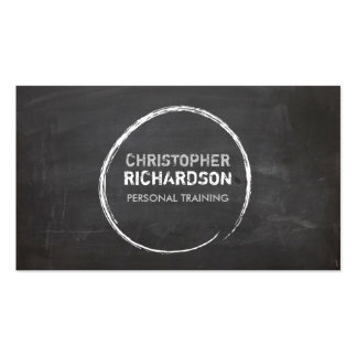 COOL CHALKBOARD CIRCLE with YOUR NAME Pack Of Standard Business Cards