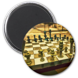 Cool Chess Board with Nuts and Bolts 6 Cm Round Magnet