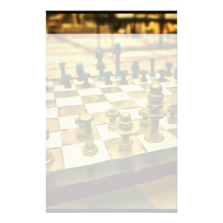 Cool Chess Board with Nuts and Bolts Personalized Stationery