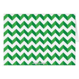 Cool Chevron Zig Zag Green Cards