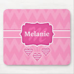 Cool Chevron Zigzag Pink Valentine's Day Mouse Mats