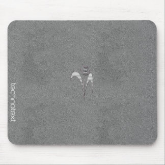 Cool Chic Leather Add Text Image Silver Flower Mouse Pad