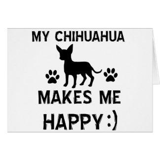 Cool Chihuahua dog breed designs Greeting Card
