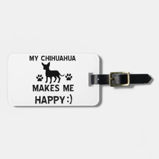 Cool Chihuahua dog breed designs Luggage Tags