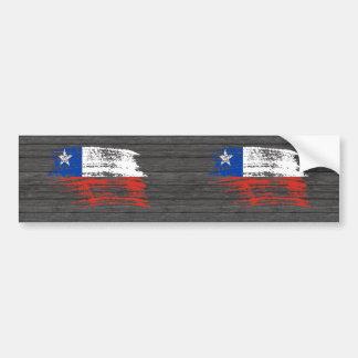 Cool Chilean flag design Bumper Sticker