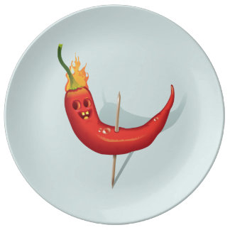 Cool Chili Pepper Plate