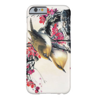 Cool chinese beautiful brown bird red cherry tree barely there iPhone 6 case