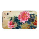 Cool chinese classic watercolor pink flower bee galaxy s5 cover