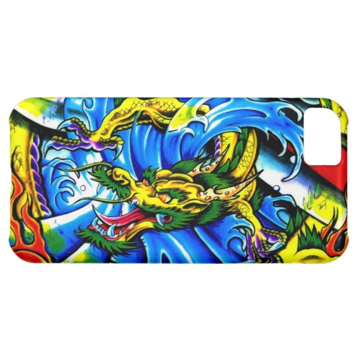 Cool chinese dragon god burning orb tattoo art iPhone 5C cover