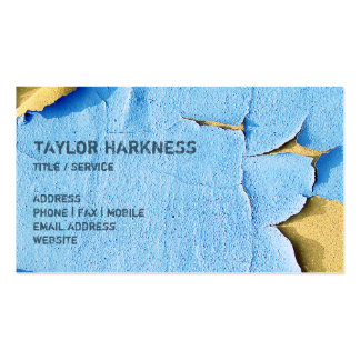 Cool Chipped Paint Peeling Cracked Blue Sand Pack Of Standard Business Cards