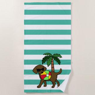 Cool Chocolate Labrador Sunglasses Beach Towel