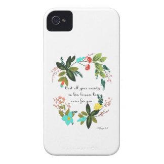 Cool Christian Art - 1 Peter 5:7 Case-Mate iPhone 4 Case