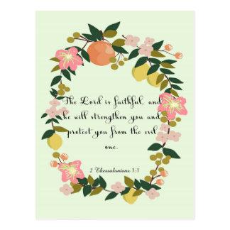 Cool Christian Art - 2 Thessalonians 3:3 Postcard