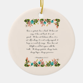Cool Christian Art - Corinthians 13:4-7 Christmas Ornament