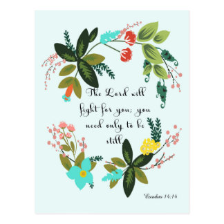 Cool Christian Art - Exodus 14:14 Postcard