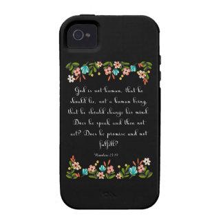 Cool Christian Art - Nahum 23:19 Vibe iPhone 4 Cases