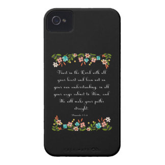 Cool Christian Art - Proverbs 3:5-6 iPhone 4 Case