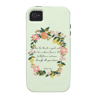 Cool Christian Art - Psalm 100:5 Case-Mate iPhone 4 Covers