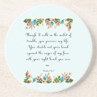Cool Christian Art - Psalm 138:7 Beverage Coasters
