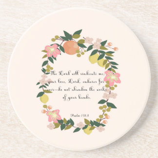 Cool Christian Art - Psalm 138:8 Coaster