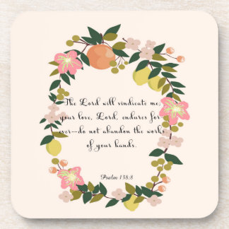 Cool Christian Art - Psalm 138:8 Drink Coaster