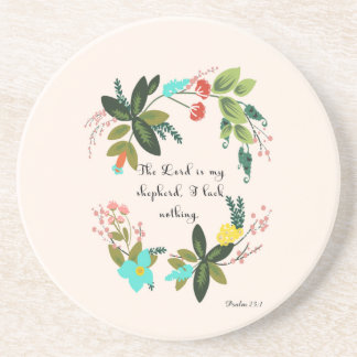Cool Christian Art - Psalm 23:1 Beverage Coaster