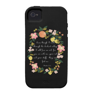 Cool Christian Art - Psalm 23:4 Case-Mate iPhone 4 Cover