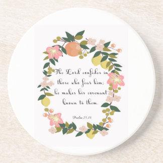 Cool Christian Art - Psalm 25:14 Drink Coasters